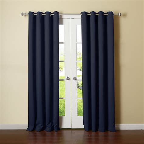 grommet top thermal curtains solid grommet top thermal insulated 108 inch blackout