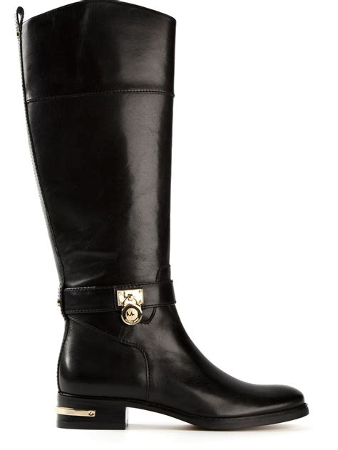 michael kors boots for michael michael kors aileen boots in black lyst