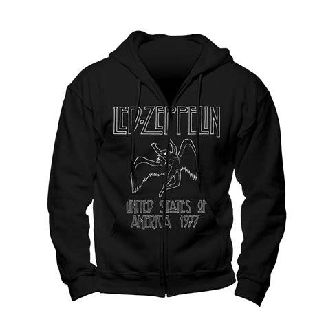 Hoodie Led Zeppelin led zeppelin usa 1977 zip hoodie rockzone