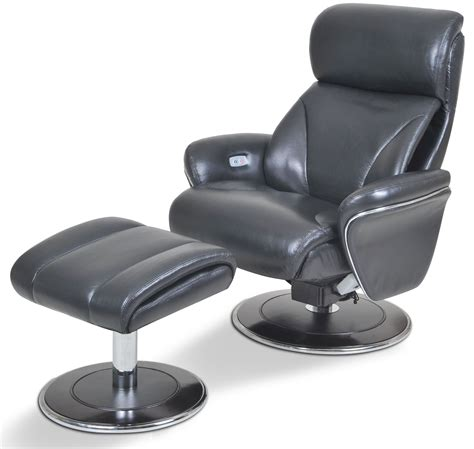 ergonomic leather slate reclining chair ottoman from