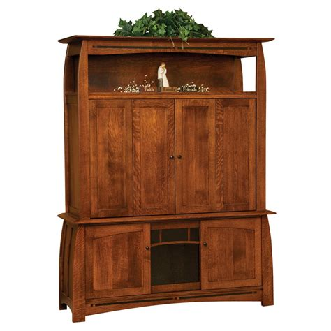 Tv Cabinet Enclosed by Boulder Creek Enclosed Tv Cabinet Amish Furniture Amish