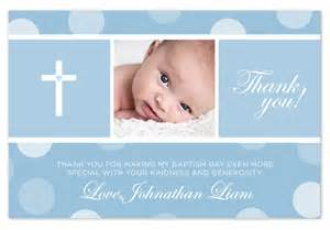 baptism christening thank you card blue pink by paperheartsbyj
