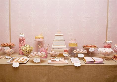 pink and gold dessert table amyatlas s