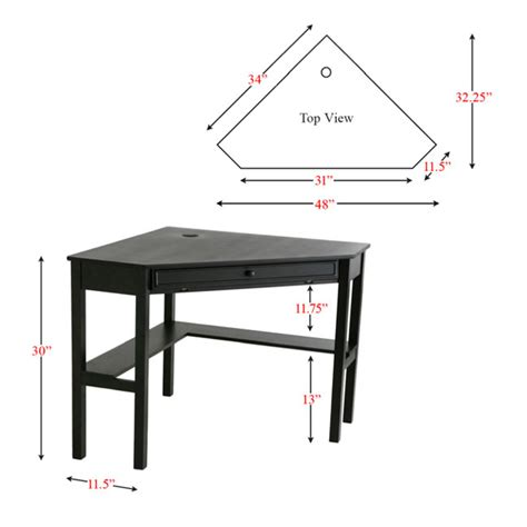 Corner Desk Dimensions Modern Desks Black Corner Desk Eurway
