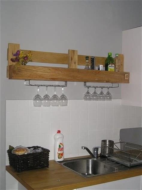 diy kitchen shelving ideas 15 diy wooden pallet shelves pallets designs