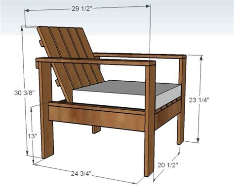simple outdoor lounge chair outdoor furniture plans