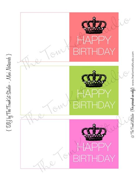 Mini Card Templates by Free Printable Happy Birthday Mini Notecards The