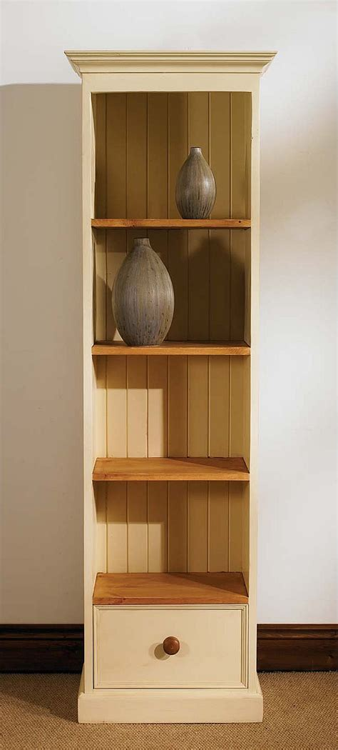 pine bookcase narrow bookshelf slim furniture