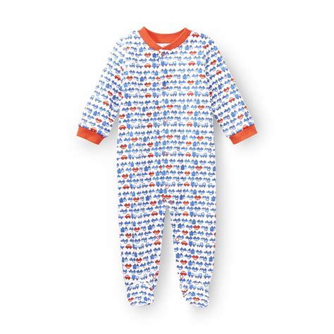 small wonders newborn boy s sleeper pajamas baseball