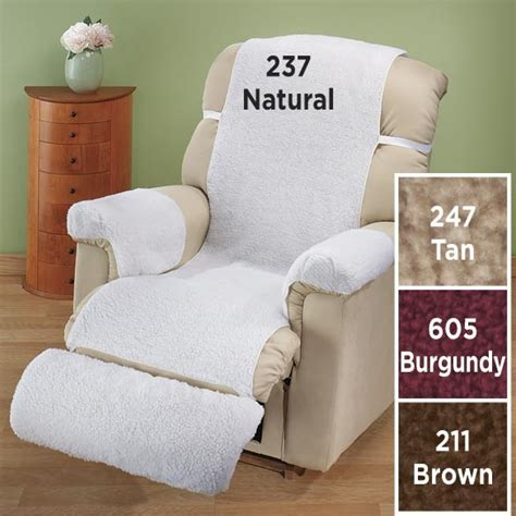 sherpa recliner cover sherpa 4 pc recliner cover set ebay