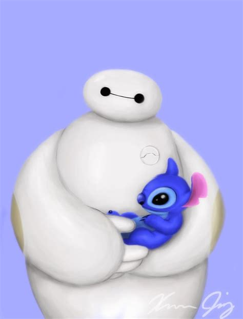 baymax and stitch by thejasminator on deviantart disney