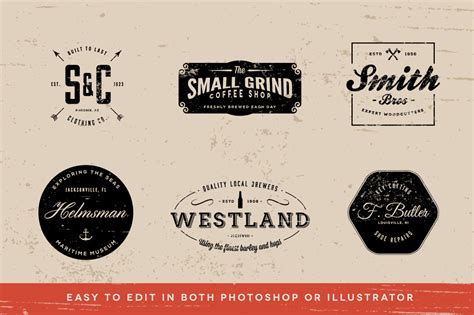 vintage logos volume 3 logo templates on creative market