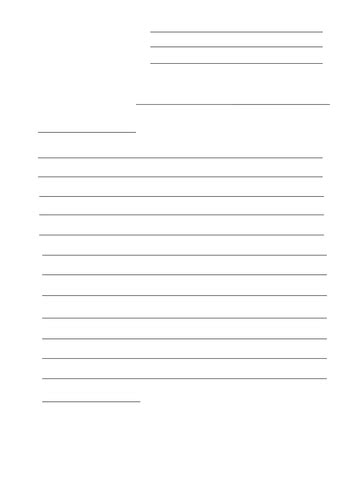 letter writing template teaching resources