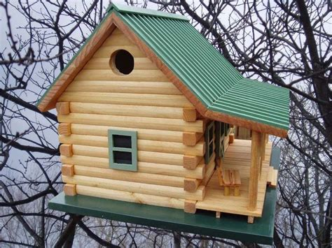 Log Cabin Birdhouse Cabin Birdhouse Plans