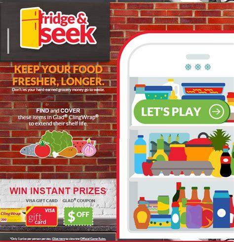 Online Instant Win Games - glad fridge seek instant win game