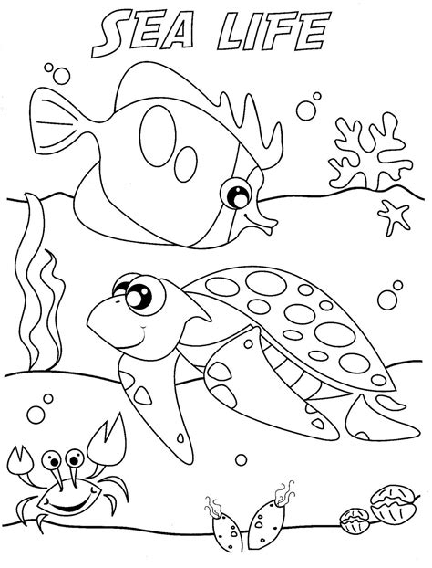 coloring pages of animals in the sea free under the sea coloring pages to print for kids