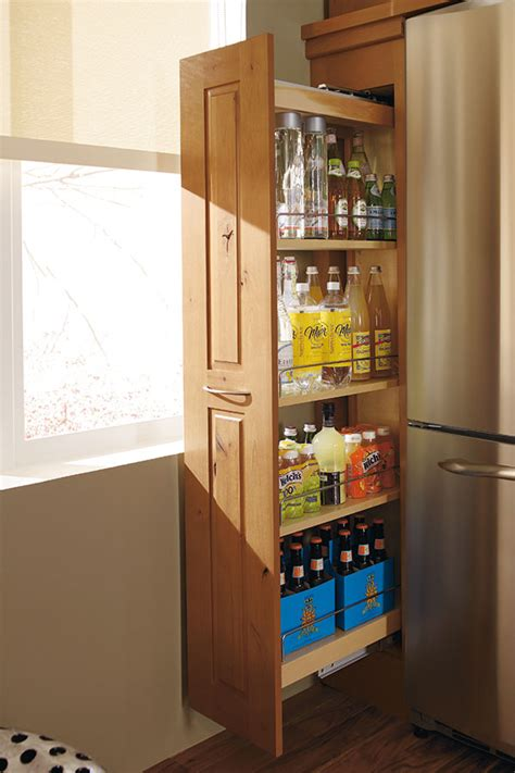 kitchen pull out cabinets pantry cabinet pull out decora cabinetry