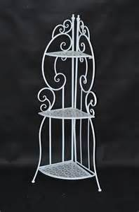 White Corner Bakers Rack Metal Plant Stands Outdoor Promotion Shop For Promotional