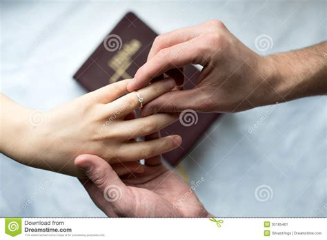 engagement rings hands proposal stock image image 30185461