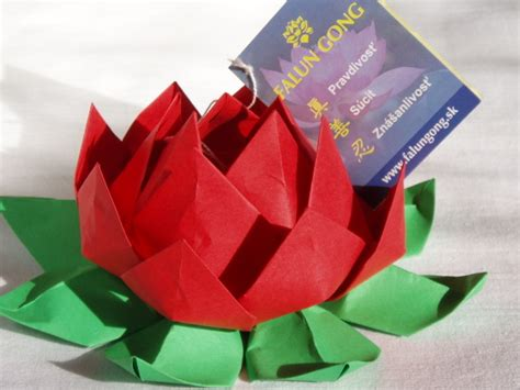 Origami Lotus Blossom - how to make an origami lotus flower d箟y tutorial