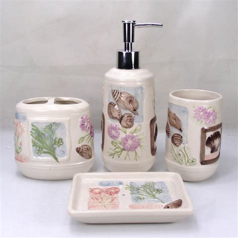 picturesque get cheap shell bathroom accessories set aliexpress of interior home