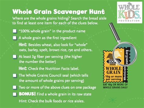 whole grains handout whole foundation quot choose whole grain bread instead
