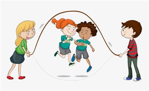 imagenes niños saltando la cuerda saltando a los ni 241 os dibujos pintados a mano cuerda de