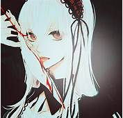 Anime Art Beautiful Blood Bloody Creepy Doll Emo Feather