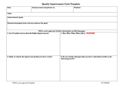 best photos of quality improvement plan template quality