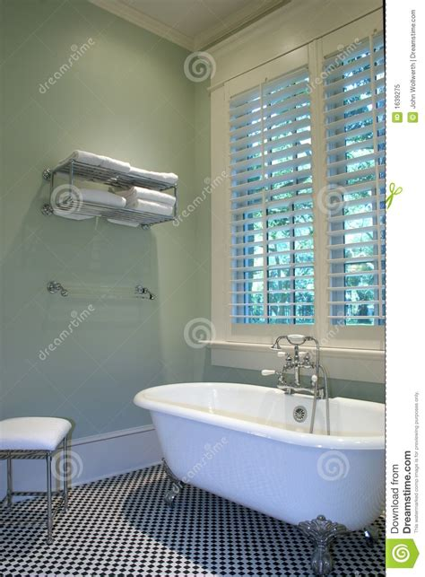 retro bathroom stock image image  floor clawfoot