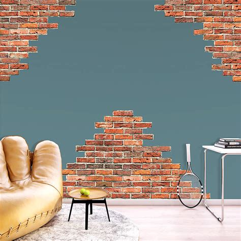 wall accents stickers horizontal brick wall accents wall decal shop fathead