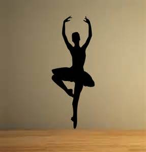 ballet dancer ballerina wall decor vinyl decal sticker