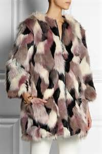 Patchwork Faux Fur Coat - 4 faux fur jackets inspired by kate bosworth