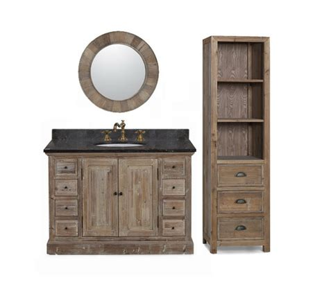 Recycled Bathroom Vanities by Infurniture Solid Recycled Fir 48 Quot Traditional Single Sink