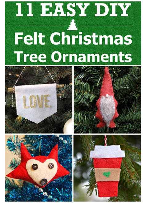 Easy Crafts To Make For Your Room - 11 easy diy felt christmas tree ornaments