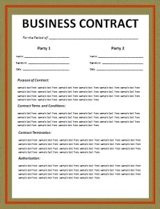 Printable Business Contract Template Free Word S Templates How To Make A Business Contract Template