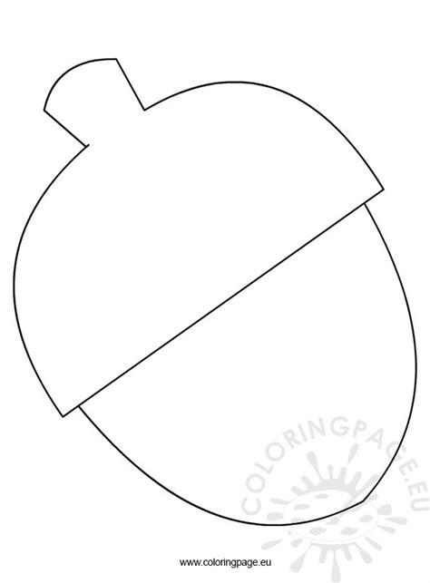 free acorn template coloring page