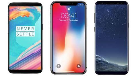 apple x vs samsung s8 oneplus 5t vs apple iphone x vs samsung galaxy s8 plus