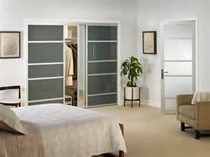 Glass Closet Doors For Bedrooms Smoked Glass Sliding Closet Doors
