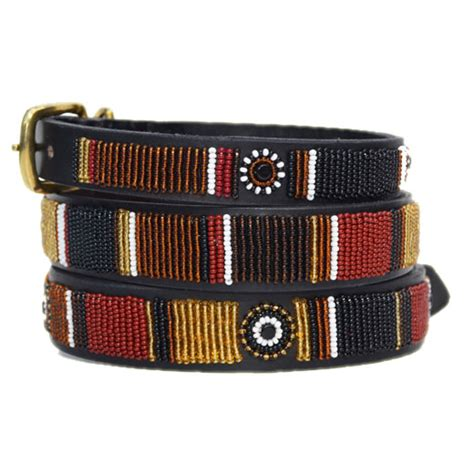 Handmade Pet Collars - beaded leather collar topi collection