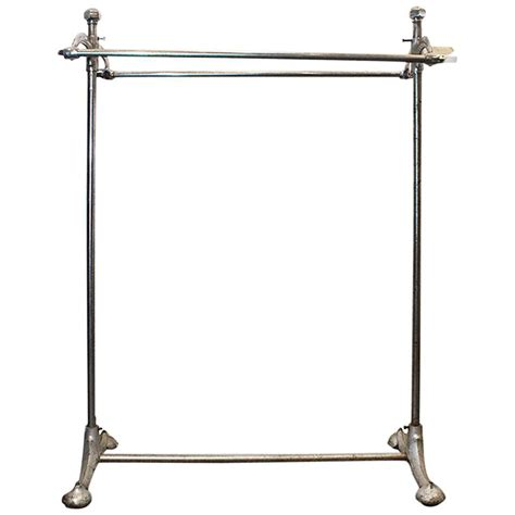 rolling garment rack superb art deco rolling clothes rack 1920s at 1stdibs