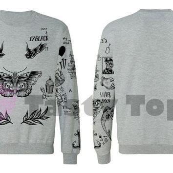 harry styles updated tattoo jumper shop one direction tattoo sweatshirts on wanelo