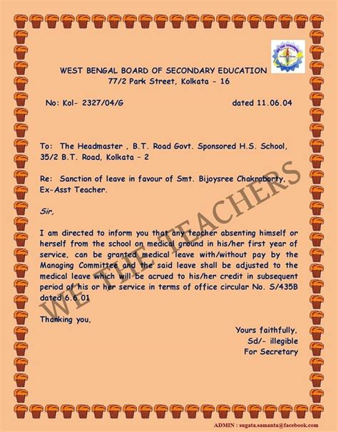 College Leave Letter After Taking Leave sle maternity leave application for school how to