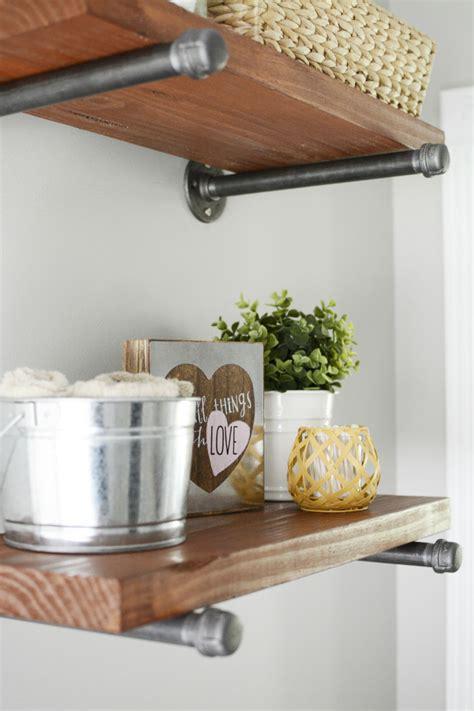 farmhouse shelves diy modern farmhouse wood metal shelves the modern tulip
