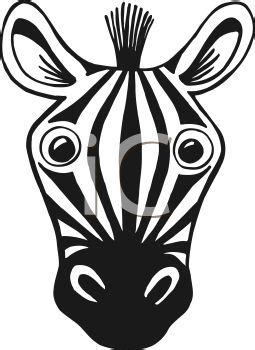 zebra face coloring page black and white cartoon of a zebra face royalty free