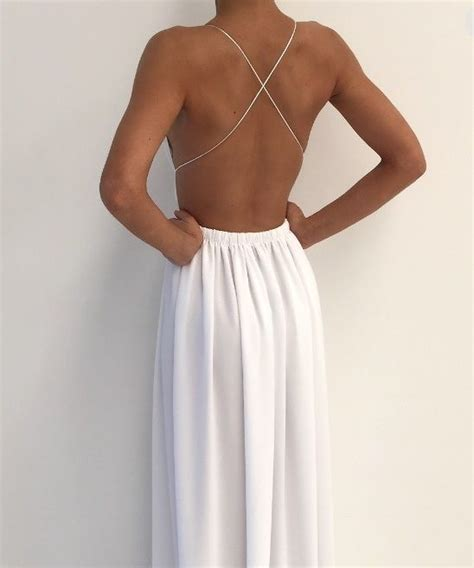 white v neck cutout back chiffon maxi dress casual dresseswomen white chiffon deep v neck floor length side slit spaghetti