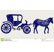 Vintage Carriage  Doodle Icon Vector Illustration