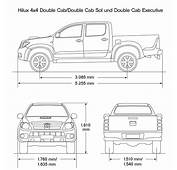 Toyota Hilux 2008 Blueprint  Download Free For