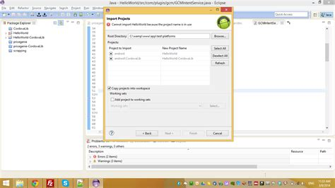 tutorial cordova netbeans cordova 3 0 import deploy and develop plugin in eclipse