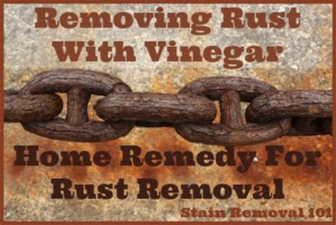 how to clean rust brass removing rust with vinegar home remedy for metals